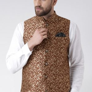 Nehru Jackets- Maroon Print